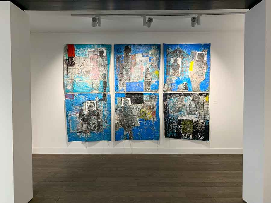 What I Won't Tell You Installation View 1, techniques mixes sur toile, 2019