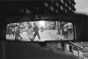 ANDREW TSHABANGU, The Evidence of Things, curated by Simon Njami, Rearview Mirror, City in Transition series, 2004