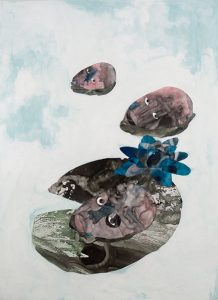 Wounds #1, Collage on paper, 55 x 76 cm, 2018